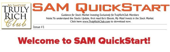 Welcome to SAM Quick Start
