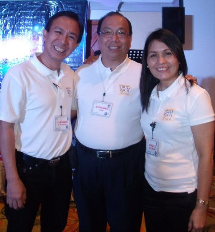 Lyndon Malanog and Edward Lee, Chairman of COL Financial in  Truly Rich Club