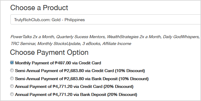how to join bo sanchez truly rich club 3.0