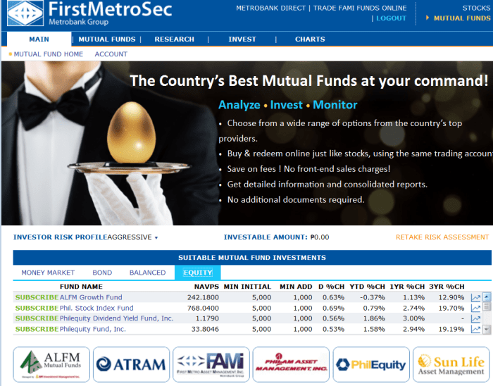 Mutual fund with First Metro Securities