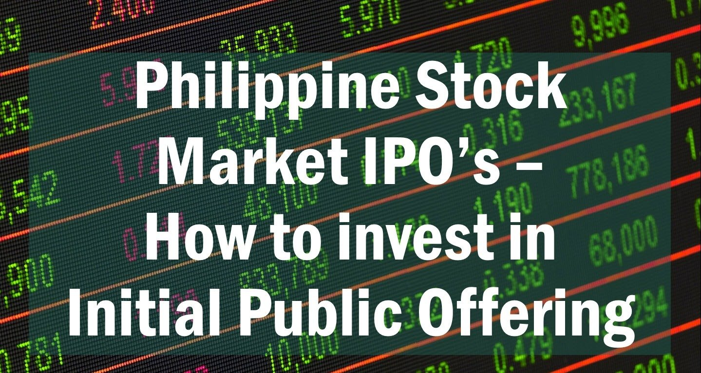 IPO (Initial Public Offering) in the Philippine stock market