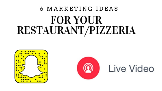 marketing ideas for your pizzeria or restaurant