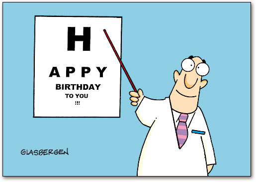 Eye Chart Birthday Postcard SmartPractice Eye Care