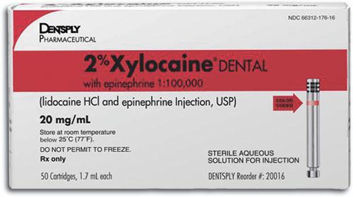 Epinephrine Dental Lidocaine Without