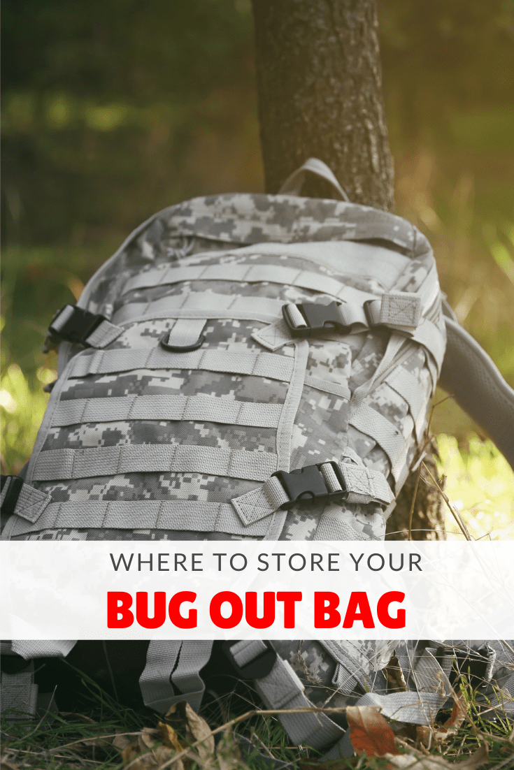 where to store bug out bag pinterest