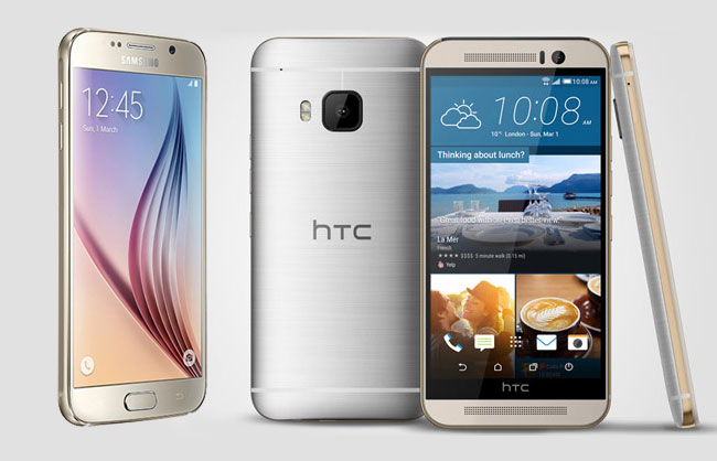 htc one m9 vs samasung galaxy s6 review