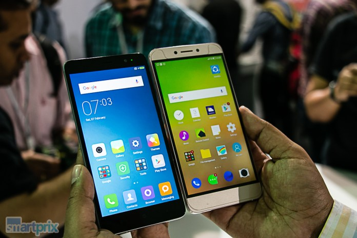 Xiaomi Redmi Note 3 display vs LeEco Le 1s display
