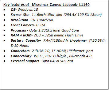 Canvas Lapbook L1160 Specifications