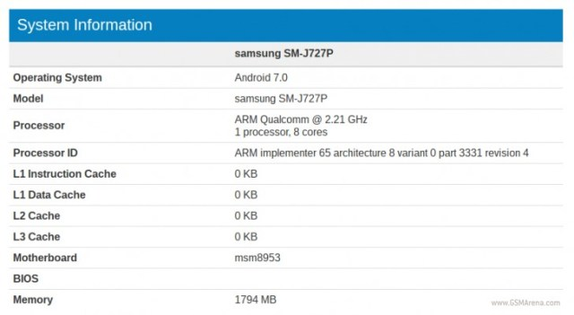 specs-leak-galaxy-j7(2017)-benchmark