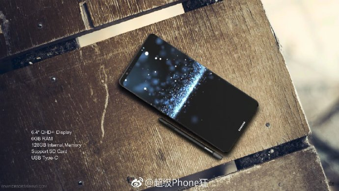 The purported Galaxy Note 8