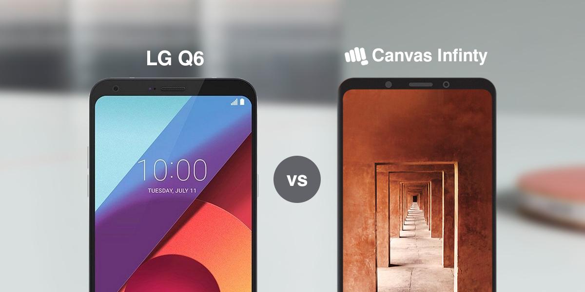 Micromax Canvas Infinity vs LG Q6 Specs Comparison: Bezel-less