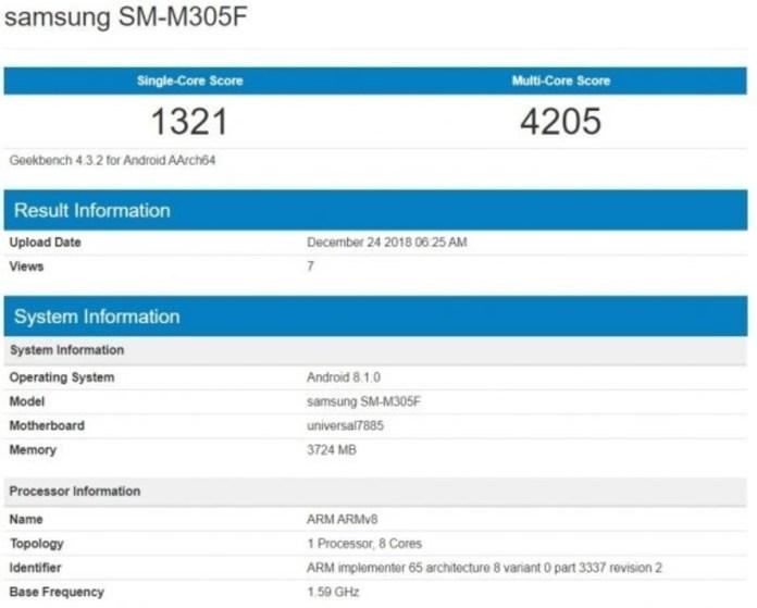 Samsung M30 Leaked Specs: Geekbench