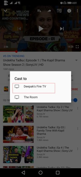 How To Cast YouTube Videos To Fire TV Stick Directly From