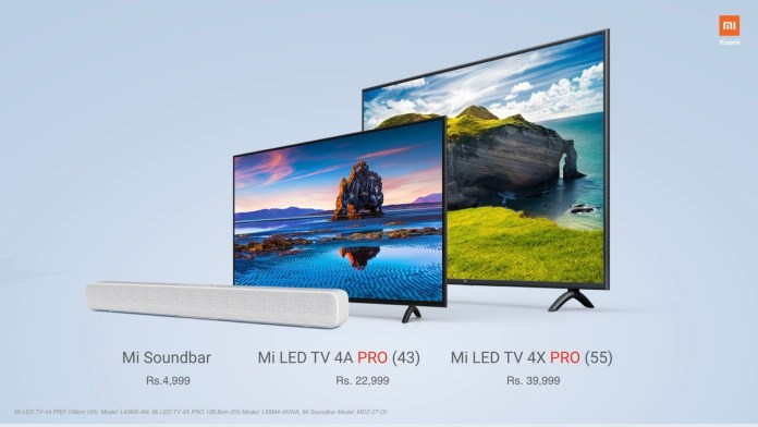 Xiaomi Smart TVs and Mi Soundbar (Source: Twitter @Xiaomiindia)