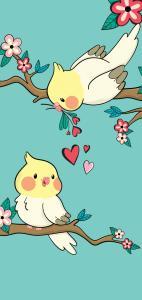 Cockatiels in Love Samsung Galaxy S10 Wallpapers