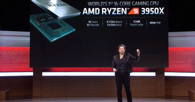 AMD amazes E3 2019 with its 16-core Ryzen 9 3950X CPU and