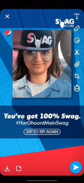 Snapchat Pepsi Swag Filter