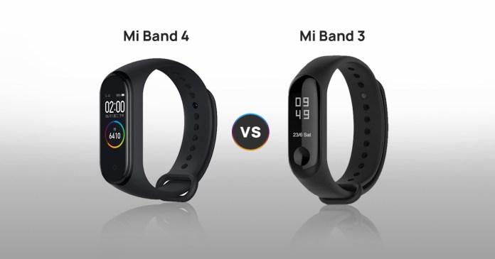 Mi Band 4 vs Mi Band 3