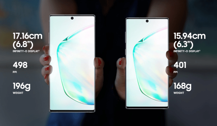 Galaxy Note10 Note10 display