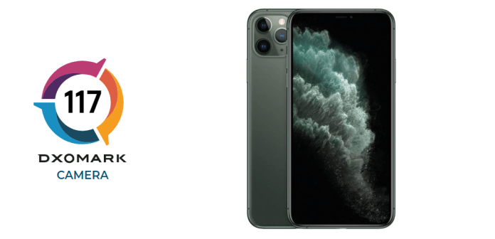 DxOMark score of Apple iPhone 11 Pro Max camera is 117