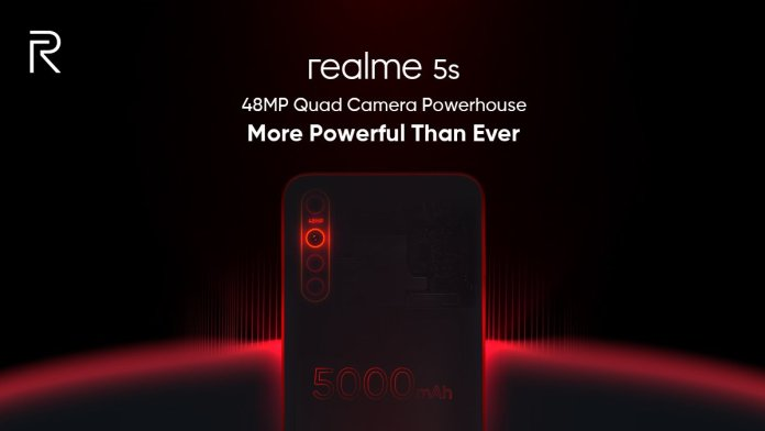 Realme 5S teased via Flipkart