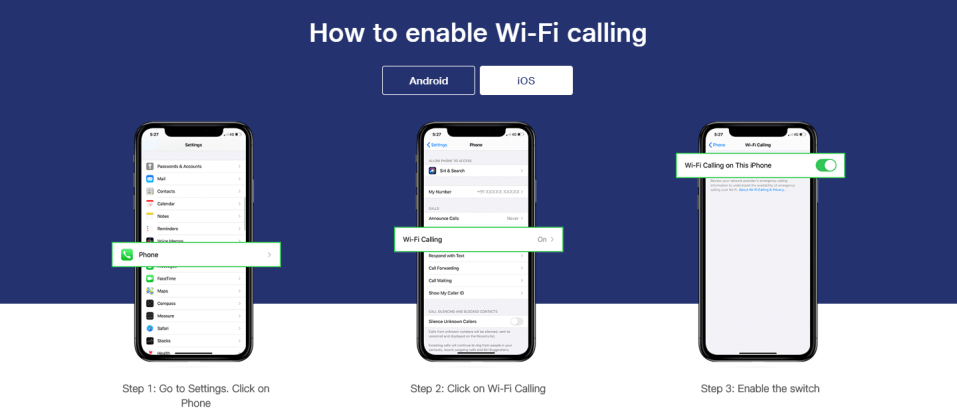 How to activate VoWiFi on iPhone