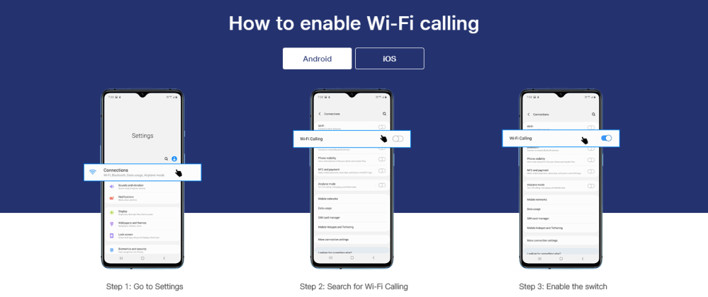 How to enable VoWiFi on Android