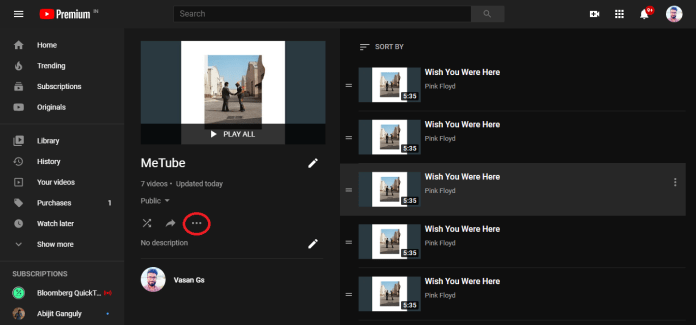 How to remove duplicate songs from YouTube Music playlist