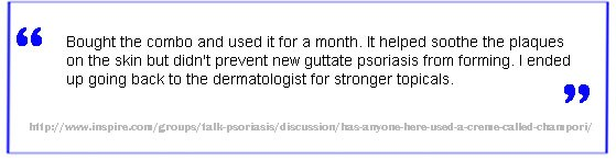 Champori psoriasis treatment negative review 2