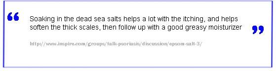 dead sea salt psoriasis
