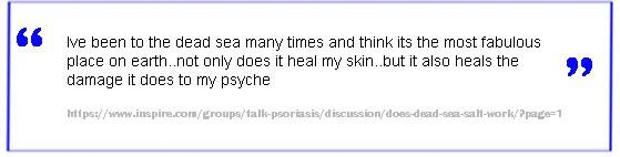 Dead sea salt skin treatment