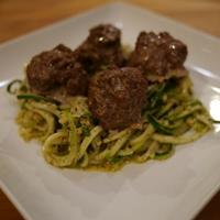 Nightshade Free Lamb Meatballs with Mint Pesto