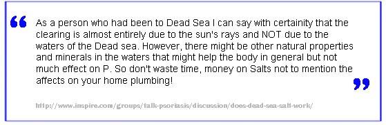 sea salt treatment scam