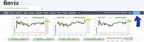 סריקת מניות למסחר בבורסה - סמארט טרייד - אתר פינויז Finviz