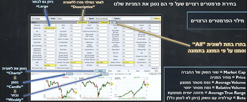 סריקת מניות למסחר בשוק ההון -- תום רוכמן - קורס מסחר בשוק ההון