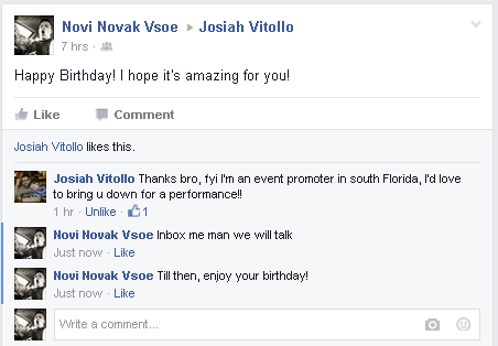 Facebook birthday proof