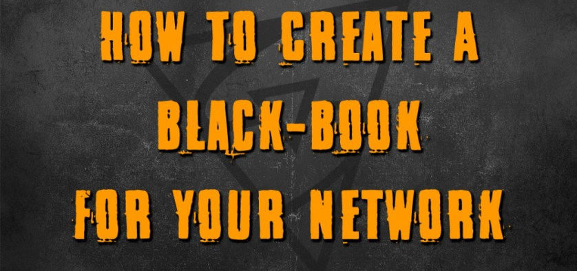 how to create a black book for your network