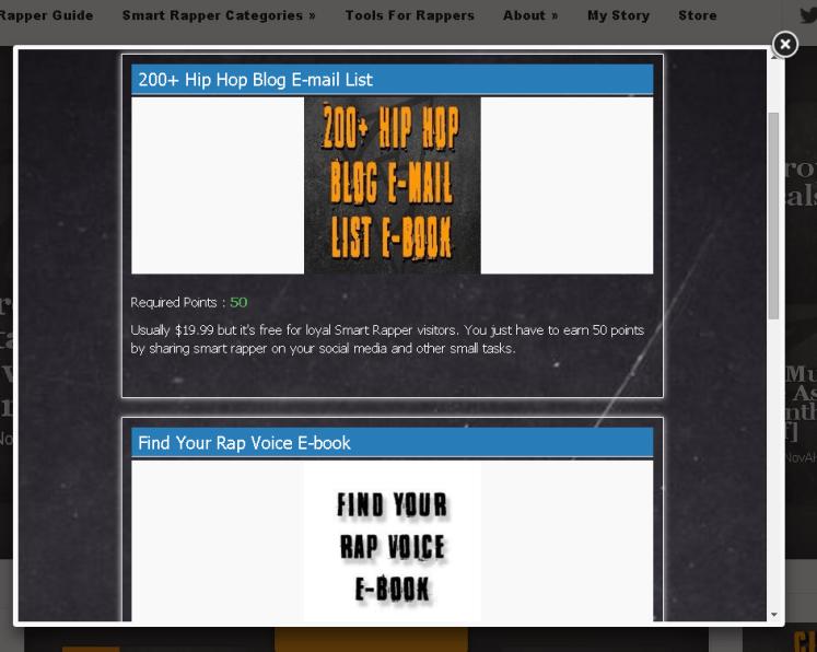 Smart rapper rewards system prizes