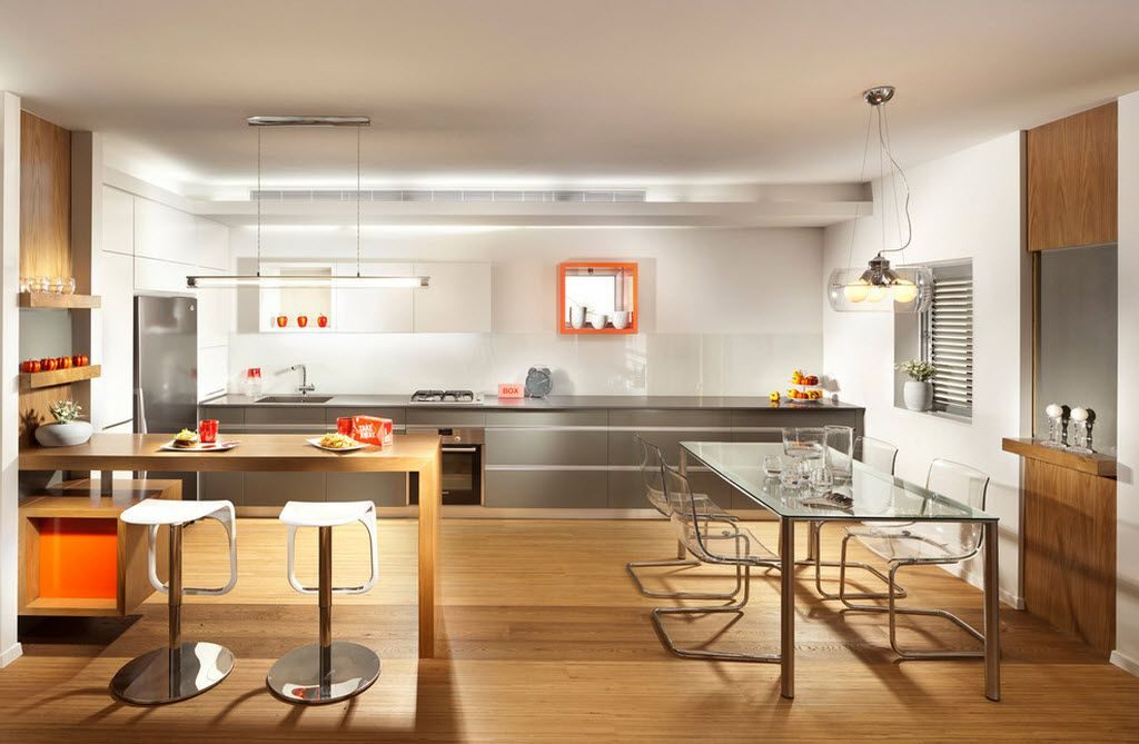 Methods of Zoning in Combined Kitchen and Living Room