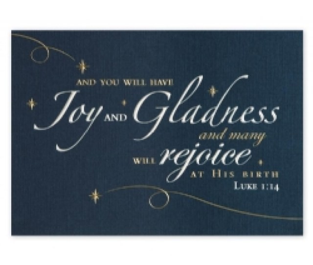 Product H Customized Christmas Cards With Gold Foil On Blue Stock