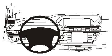 Fixation voiture Proclip Citroen C4 Grand Picasso II