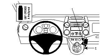 Fixation voiture Proclip Citroen Berlingo Family