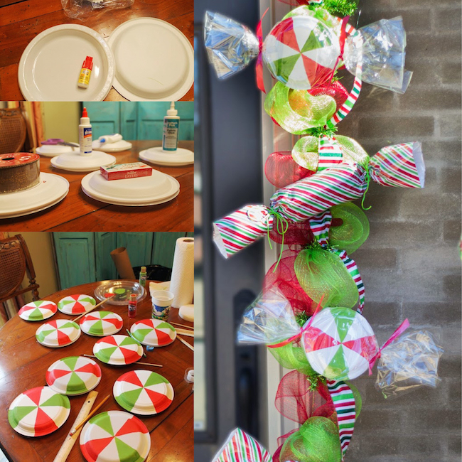 Diy Christmas Candy Mint Garland A Homemade Way To Decorate For The Holidays