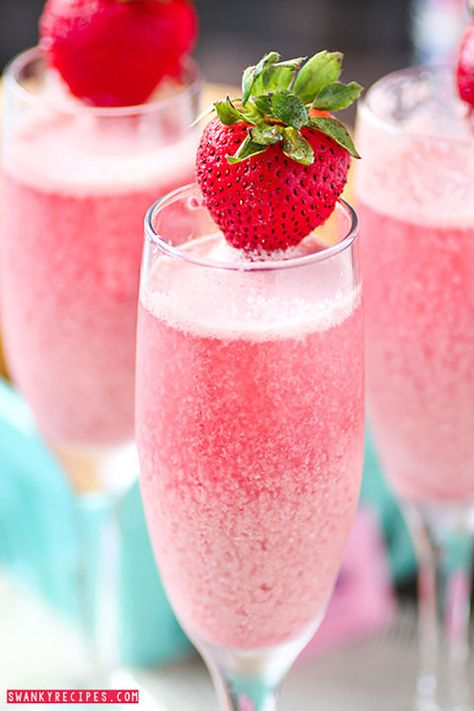 Strawberry Cream Mimosa: With its bright pink color, this sweet and creamy drink will match all of your Easter decor. easter recipes ideas dinner-easter recipes ideas-easter recipes side dishes-easter recipes dinner main courses-easter recipes appetizers #easter #easterrecipes #easyeaster #recipes