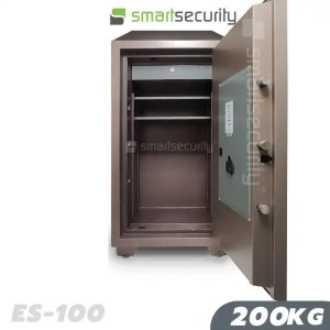This is an image of the Eagle safe ES 100 200KG Fireproof Home and Business Safe Box open