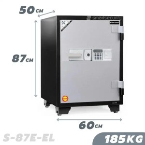 This is a picture of the SALVADO Safe S 87EL 185KG Fireproof Home and Business Safe Box provided by Smart Security in Lebanon