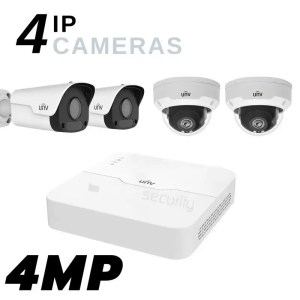4 Ultra HD IP Camera Security System kit with POE NVR and 1TB Storage