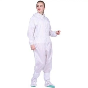 Washable Coverall Anti-Static with Hood-White
