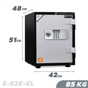 This is a picture of the SALVADO Safe S 52E EL 85KG Fireproof Home and Business Safe Box provided by Smart Security in Lebanon