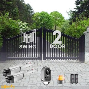 2 Swinging Gate Motorization Kit with Remote For Parking and Garage Door Kit-Swing-2 Door